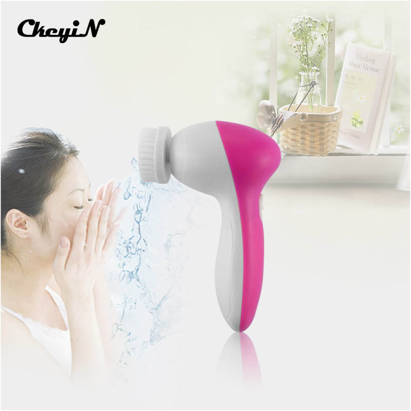 CkeyiN Multifunction Electric Facial Cleaner Face Skin Care Brush Battery Operated Rotating Face Scrubber Rotation Skin Care(China (Mainland))