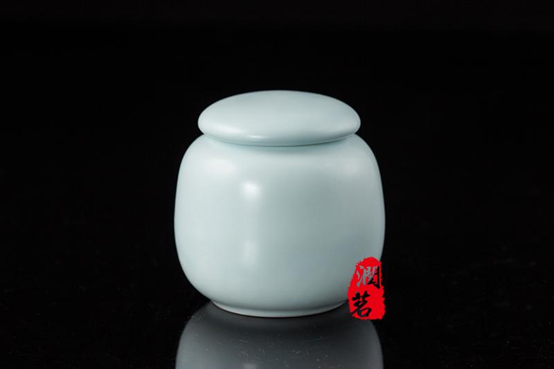 Sealed Light Blue Tightness Matcha Tea caddy Green Tea Powder Tea caddy Can Matcha teaware(China (Mainland))