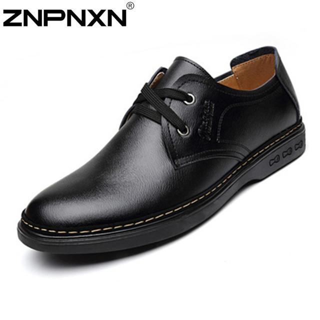 Znpnxn мода мужской обуви из натуральной кожи свободного покроя мужские формальная ...