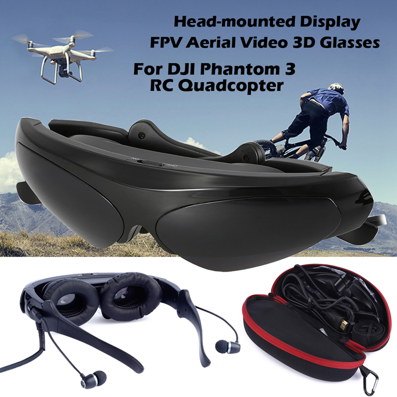 Free shipping!Video 3D Glasses For DJI Phantom 3 FPV Head-mounted Display LCD For Smartphone