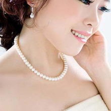 Delicate jewellery Clavicle Chain simulated big pearl necklace bridal jewelry Womens necklace female white wedding gifts(China (Mainland))