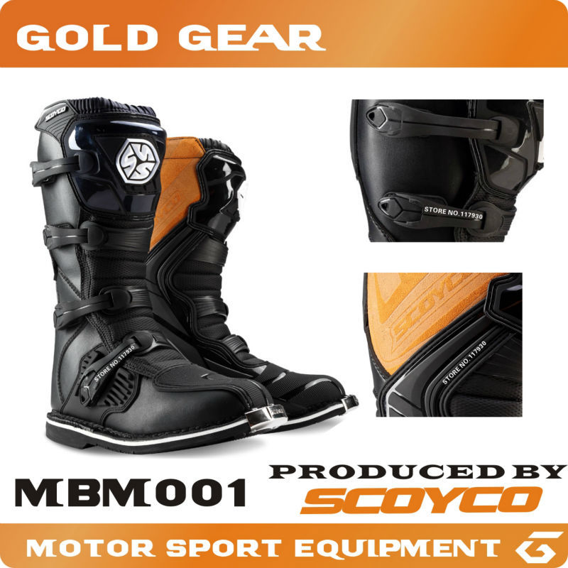 Boots For Motorcycle SCOYCO MBM001 SCOYCO racing boots racing ATV motorcycle racing long shoes off-road motocross boots Botas(China (Mainland))