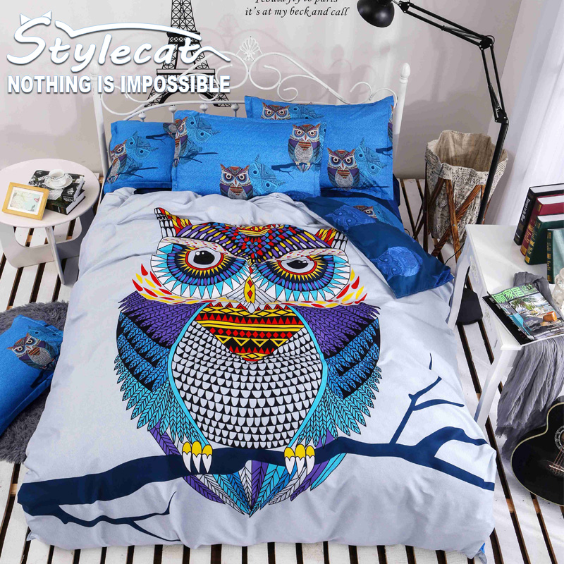 Fashion Printing large Version Cartoon Bedding Sets Full/Queen Size 4piece Sheet Bed Sheet Pillowcase Duvet Cover Select Young(China (Mainland))