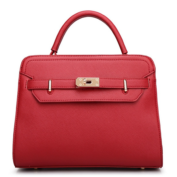 Solid Vintage Dress Handbag Business Trendy Textured Leather Red Cross Body Messenger Shoulder Bags Pink Fashion Bags For Women(China (Mainland))