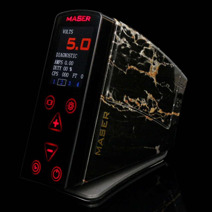 Top Quality LCD Screen Flatbed Button Dual MASER Tattoo Power Supply 2015 New Pro fuentes de alimentacion tattoo Equipment<br><br>Aliexpress
