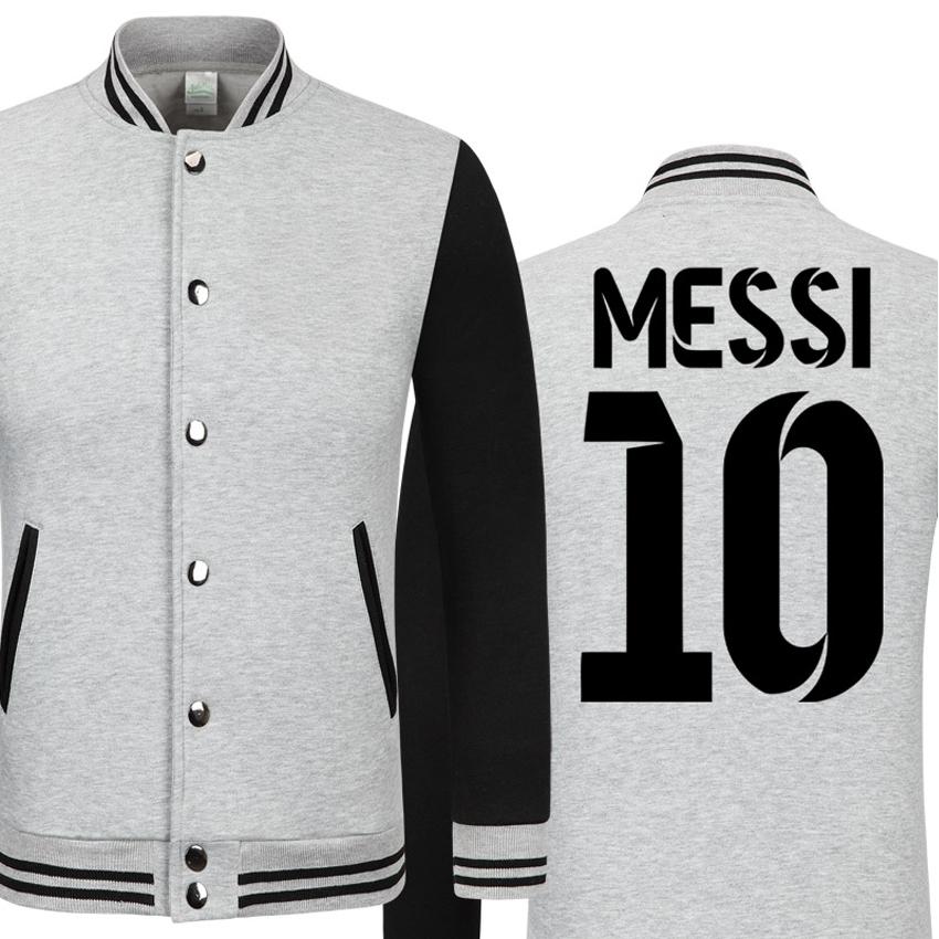 DREAK 2016 NEW Baseball collar Lionel Messi men's jacket college jacket boys retro football tracksuit big size men clothing(China (Mainland))