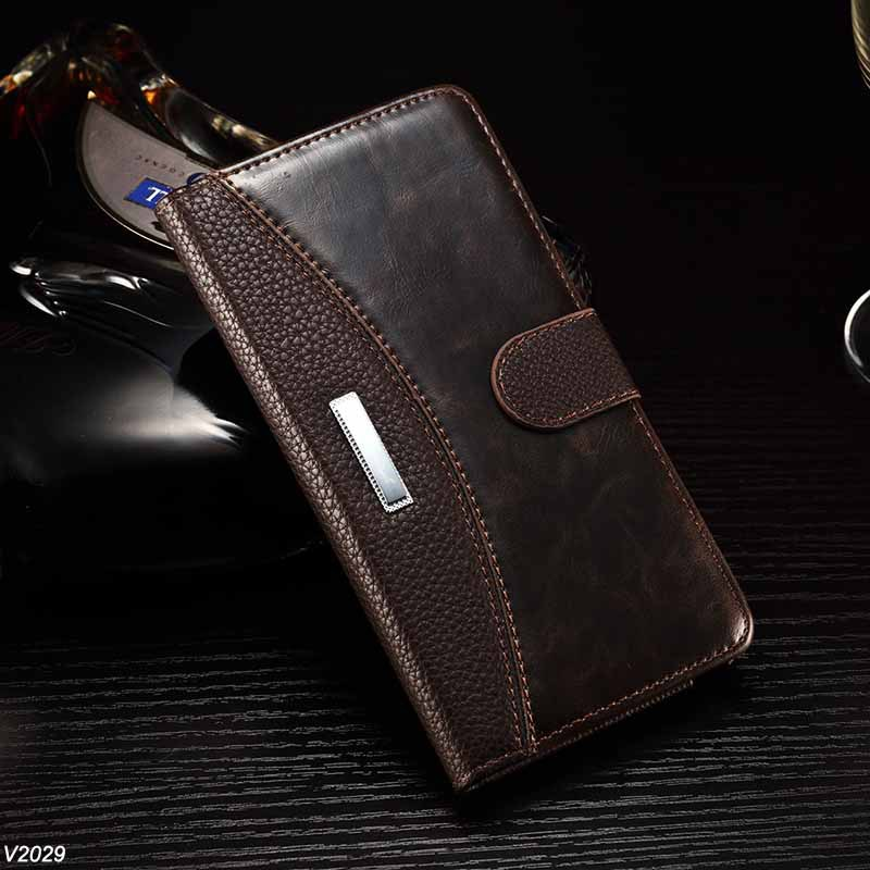 50X PU Leather Luxury Wallet Flip Stand Case Galaxy Note 4 Classic Litchi Pattern Crazy Horse Style Phone Cover - Shenzhen Voguefeel Electronics Co., Ltd store