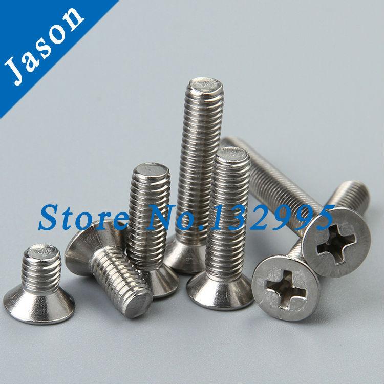 M4*45  DIN965 Stainless steel A4 Phillips Flat Head Machine Screw / Cross recessed countersunk head screws SUS 304 DIN965 M4*L<br><br>Aliexpress