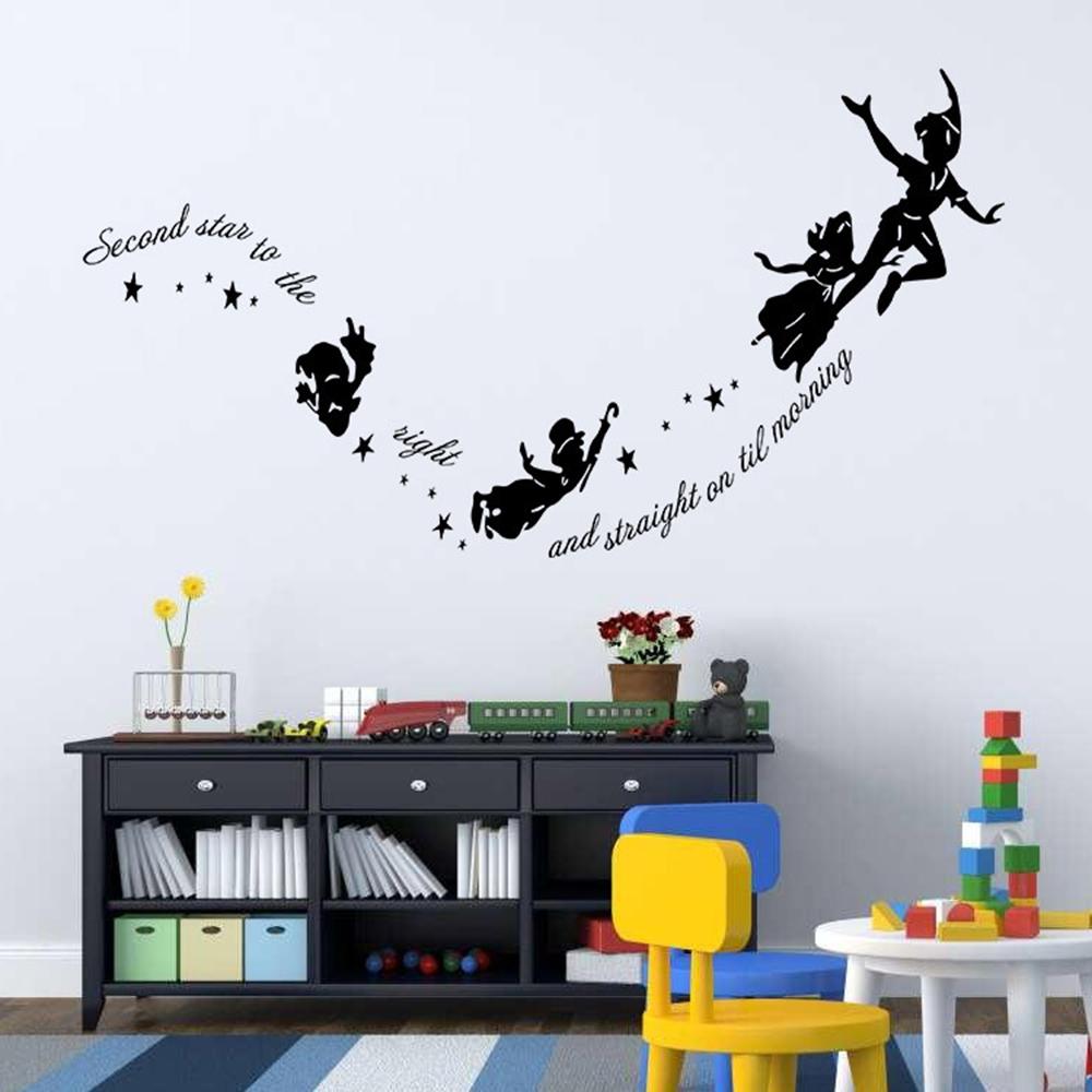 online kaufen gro handel tinkerbell wand papier aus china. Black Bedroom Furniture Sets. Home Design Ideas