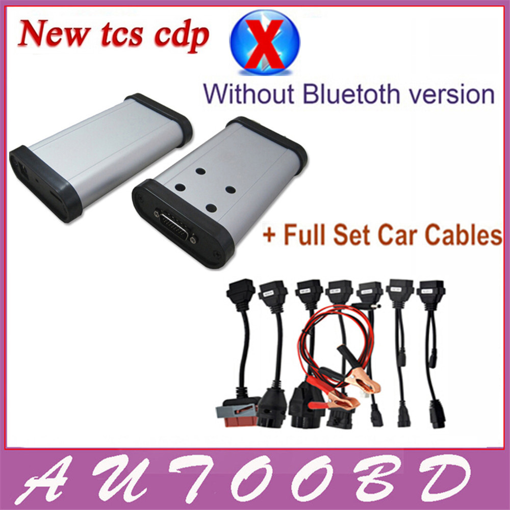 Фотография New designed TCS CDP Pro Plus 8 pieces car cables with Multi-language 2014.R2 or R3 TCS CDP No bluetooth Carton box DHL Freeship