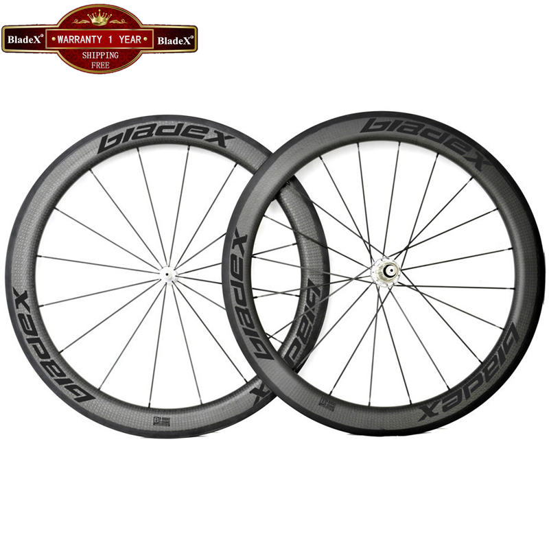BladeX Carbon Wheels 58mm Clincher Width 23/25mm 700C Road Bike Carbon Wheelset 58mm Carbon Clincher Wheelset Bicycle Wheel(China (Mainland))