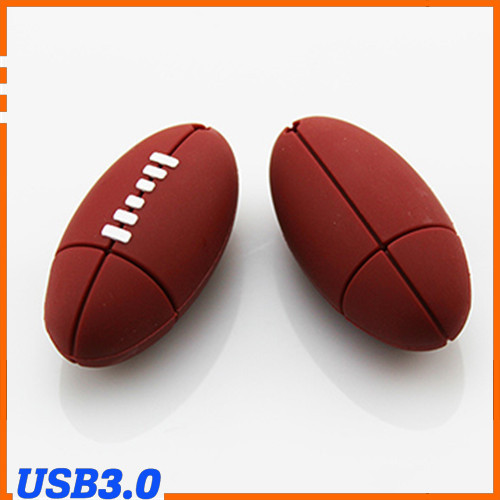100% Genuine USB Flash Drive cartoon Rugby american football memory stick pen drive 8GB 16GB 32GB 64GB pendrive hot sale USB 3.0(China (Mainland))