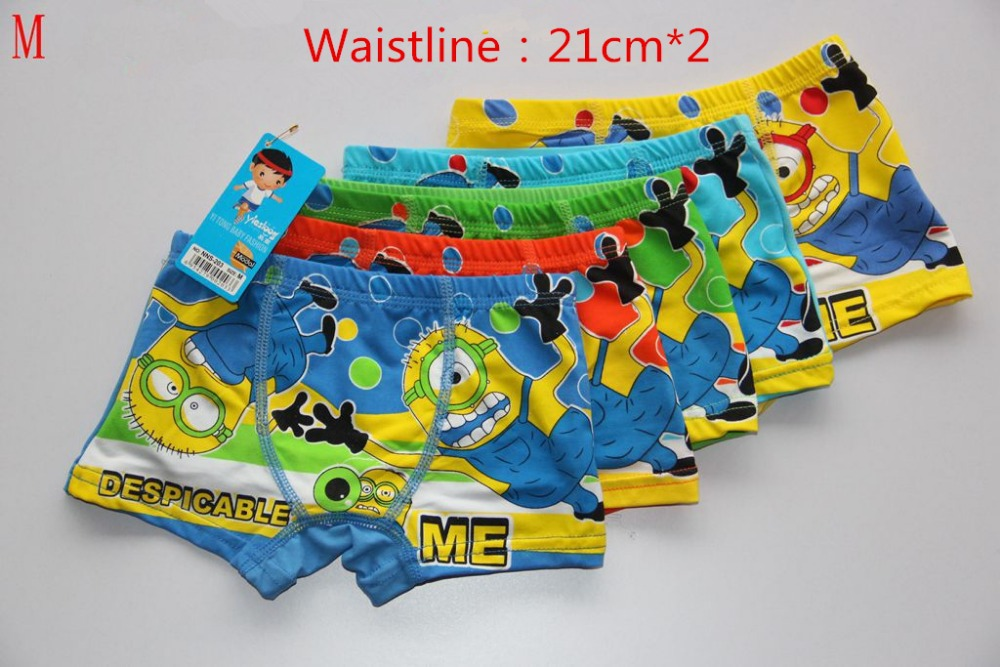 Boys underwear panties Despicable Me/Minions children pants Bamboo fiber baby boy boxer underpants briefs underware 5pcs/lot(China (Mainland))
