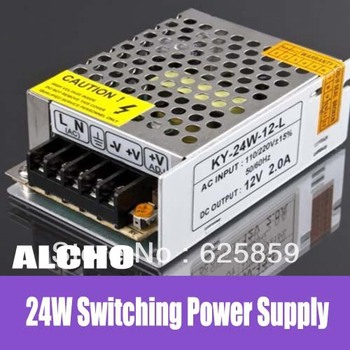 free shipping  DC 12V 2A 24W Switching Power Supply Driver  LED Strip Light Display AC Brand