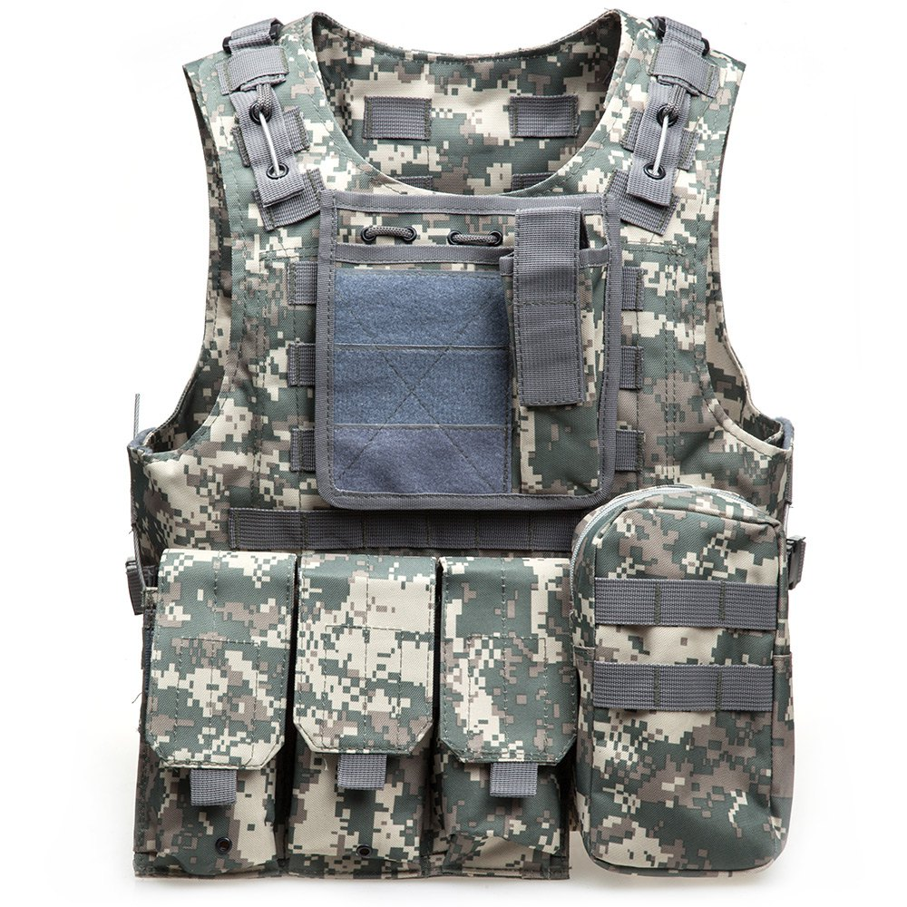 Outdoor CS Military Tactical Army Hunting Vest 600D Oxford Molle Waistcoat Combat Assault Plate Carrier Vest CS Game Accessory(China (Mainland))