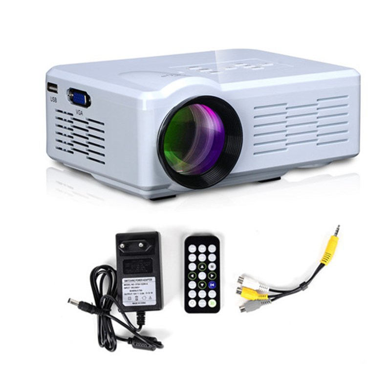 White HD TV Home Cinema Projector Portable HDMI LCD LED Game PC Digital Mini Projectors 1080P Proyector 3D Beamer proyector(China (Mainland))