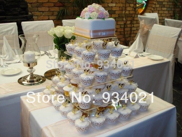 cake stand or cupcake stand acrylic square cake decoration wedding