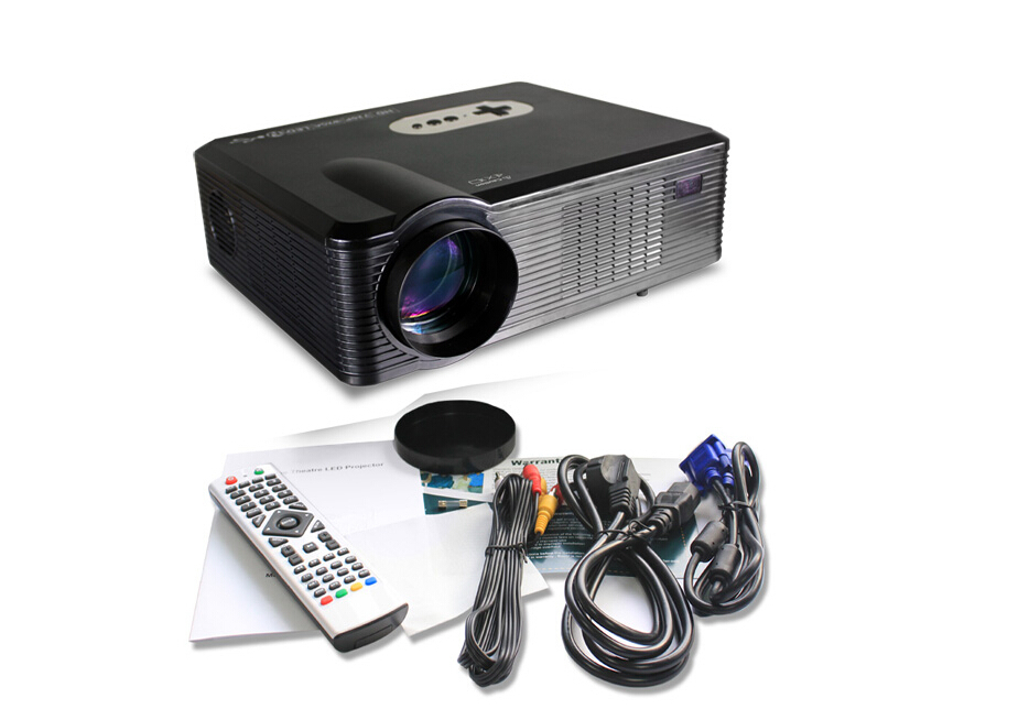 FREE SHIPPING!!!2015 Original DIGITAL Portable Led TV Projectors Home Cinema 3D HD Multimedia Player with HDMI /AV/VGA/SD/USB(China (Mainland))