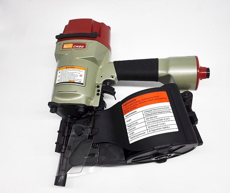 High Quality RGN CN80 Industrial Pneumatic Coil Nailer Machine Roofing Air Nailer Gun Tool(China (Mainland))