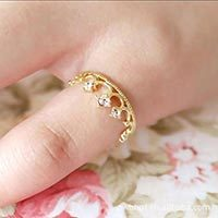 Crown Ring - 2015 NEW HOT FASHION Choke Small Chili With Paragraph Crown Princess Ring Tail Ring Jewelry #1774396(China (Mainland))