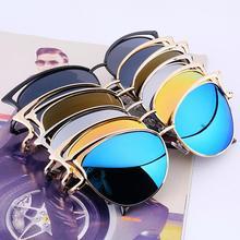 Metal Frame Sexy Cat Eye Sunglasses for Women Coating Brand vintage sun glasses female oculos de grau femininos Accessories
