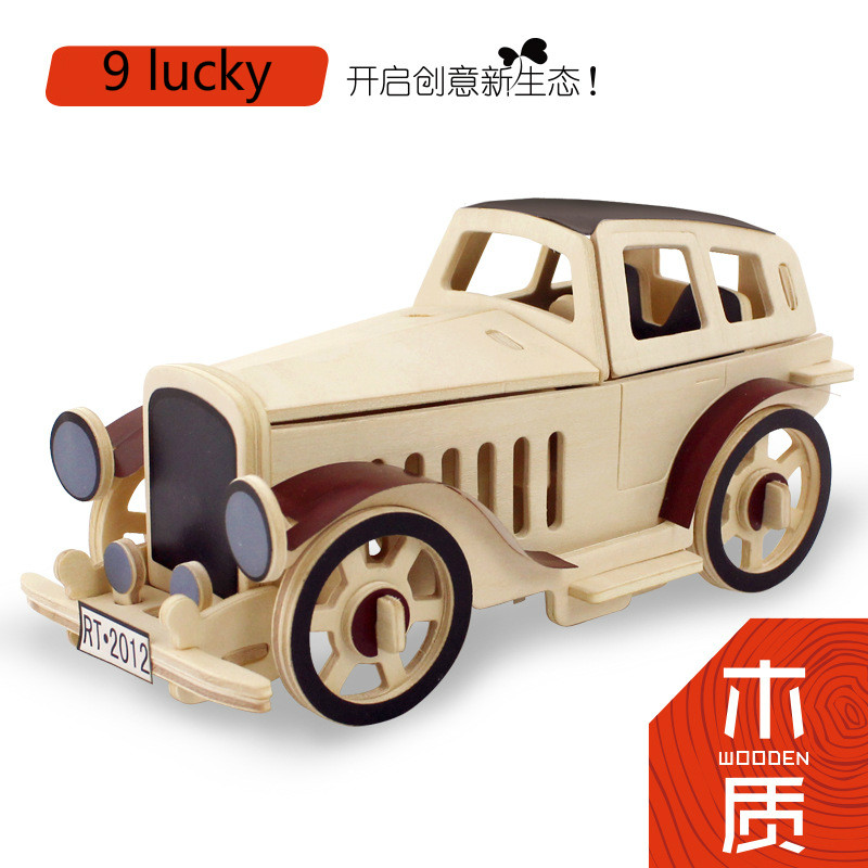 3D Wood Puzzles for Children and Adults Vehicle Puzzles Wooden Toys Learning and Environmental Assemble Toy Educational Game 179(China (Mainland))