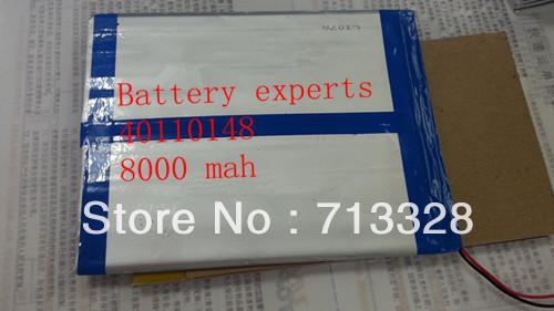 Original Li-ion Battery 3.7v 8000mAH(Approx) for Sanei N10 Quad Core, AMPE A10 Quad Core,Dual Core 3G Tablet PC 40*110*148mm(China (Mainland))