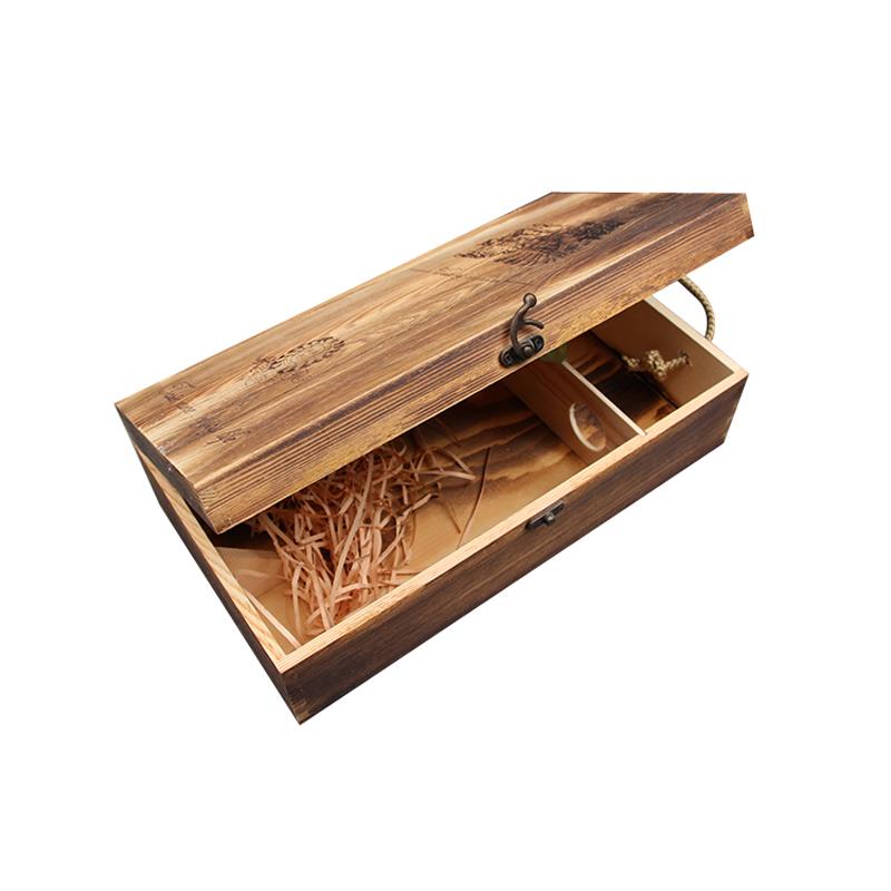 Cajas de vino de madera de pino de los clientes compras for Bar de madera de pino