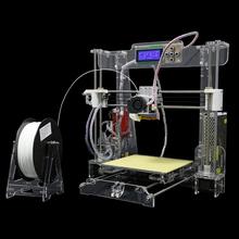 Upgraded Reprap Prusa I3 DIY 3D Printer 3 D impressora KIT 3d Printers Machine size 220*220*240mm 1Roll Filaments 8G TF Card/LCD