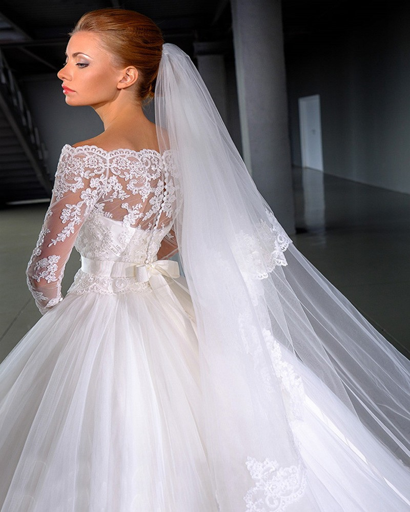 Long Sleeve Wedding Dress Picture More Detailed Picture