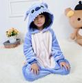 2016 Children pajamas Blue Stitch baby boys clothes unicornio Autumn Children nightgown pyjamas kids animal pijamas