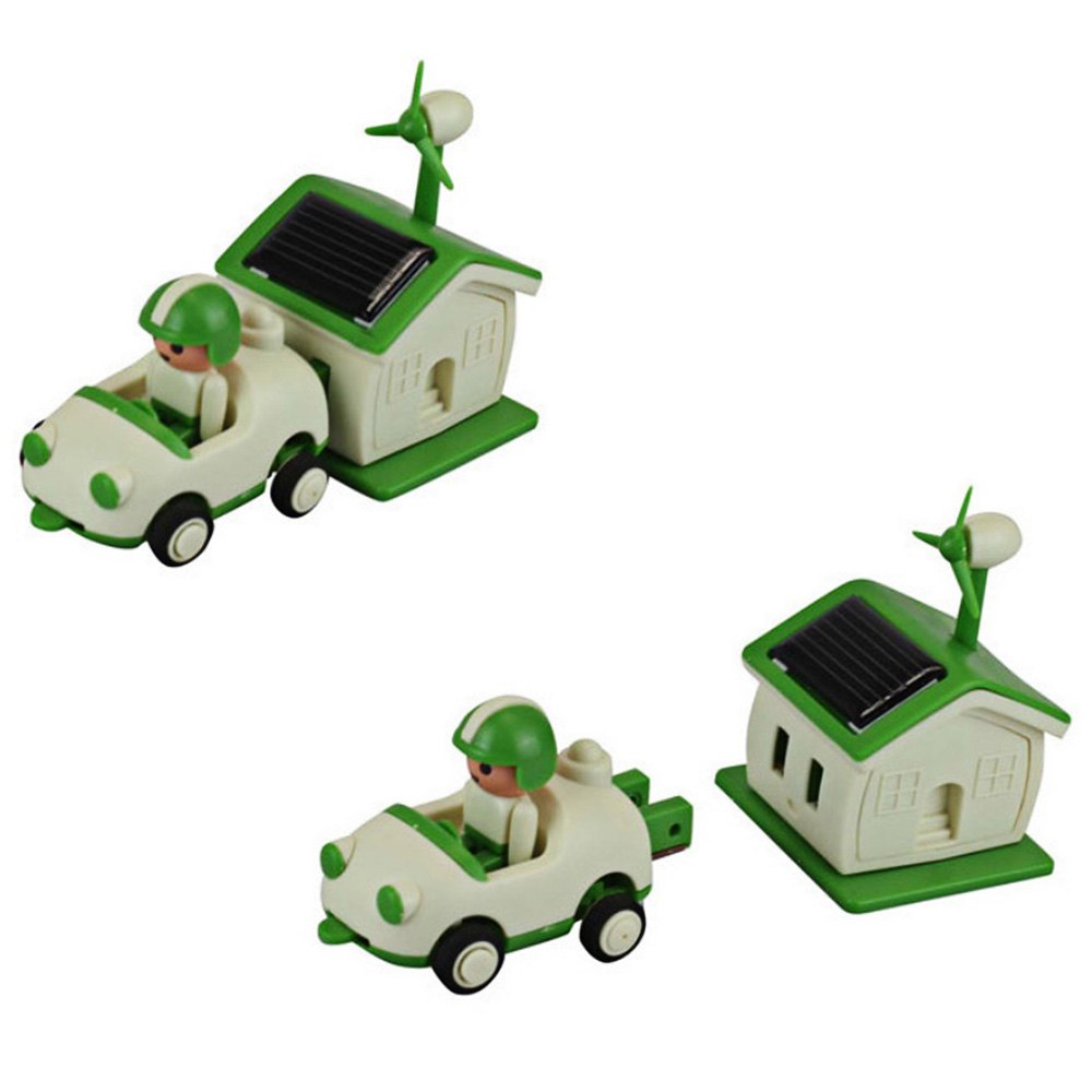 HOT Sale Baby Toys Kids Educational Green Life Solar Power Energy Toy Kit Early Learning Rechargeable DIY Toys For Children(China (Mainland))