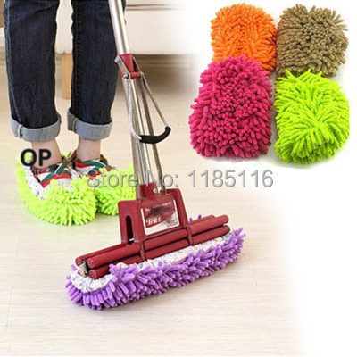 (Track Number) Free Shipping Lazy Dust Cleaner Slipper Shoes Cover House Bathroom Floor Cleaning Mop DKD1(China (Mainland))