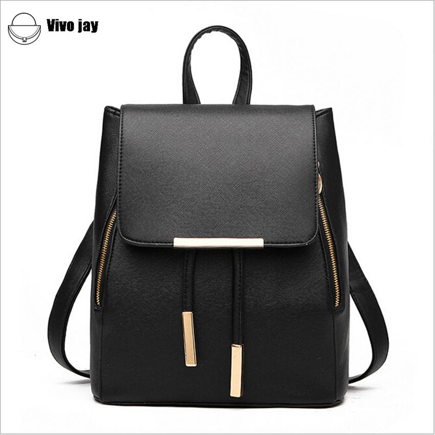 2015 women black backpack new designer pu leather fashion. Black Bedroom Furniture Sets. Home Design Ideas
