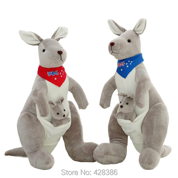 11.8 inches kangaroo soft plush toy bandicoot Cosnel cute doll good quality baby kids birthday gift best - Truman Hua's store