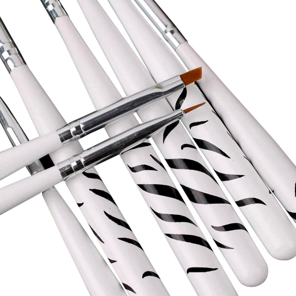 8pcs/set Zebra Brush Nail Art Design Set Dotting Painting Drawing Polish Brush Pen Tools Nail Brush Set W1(China (Mainland))