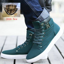 2016 Hot Men Shoes Sapatos Tenis Masculino Male Fashion Autumn Winter Leather Fur Boots For Man Casual High Top Canvas Men Shoes(China (Mainland))