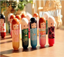 1piece New fruit nature lip lipstick Cute Cartoon kimon doll lip balm nourishing moisturizing repair Lipstick