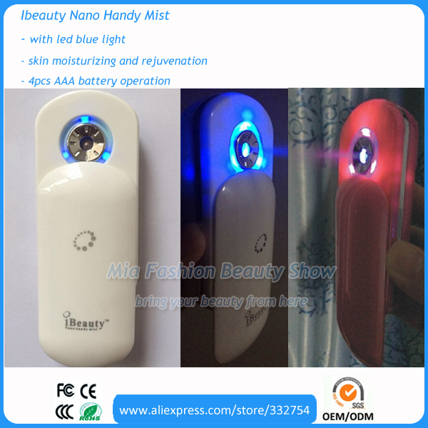 2016 Newest Generation Home Beauty Spa Portable Face and Hair Care Ibeauty Handy Nano Mister Battery Operation(China (Mainland))