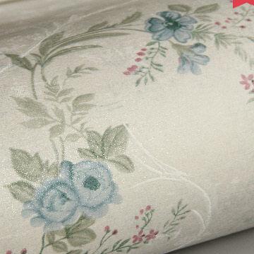 Top Grade Retro American Rural Flowers Wallpaper Bedroom Environmentally Non-woven Wallpaper Roll