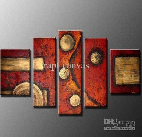 Free shipping Huge size MODERN ABSTRACT 5 panels CANVAS ART home wall decoration oil painting new arrival P53123