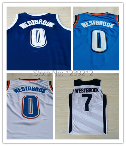 Oklahoma #0 Russell Westbrook Basketball Jerseys, Cheap Brand New REV 30 Embroidery Logo Russell Westbrook Jersey, Free Shipping(China (Mainland))