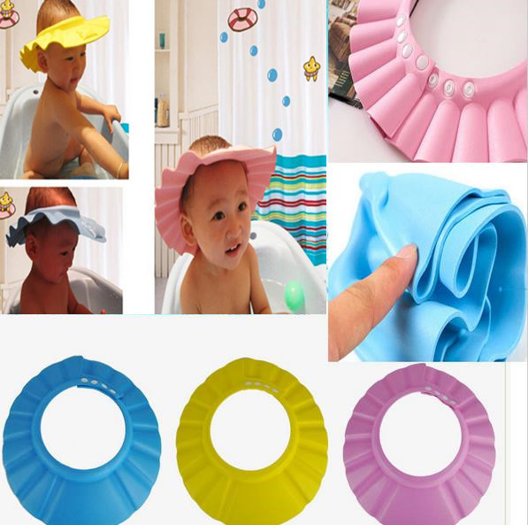 1 pcs Kids Children's Hats Caps Baby Shower Bathing Wash Hair Adjustable Shield Hat Shampoo Cap Protect Your Baby Toddler's Eyes(China (Mainland))