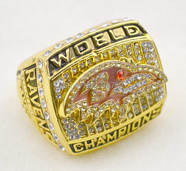 Free shipping1 pc replica Ravens 2000 super bowl championship ring(China (Mainland))