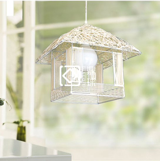 Popular bamboo bird nest buy cheap bamboo bird nest lots for Suspension luminaire cage