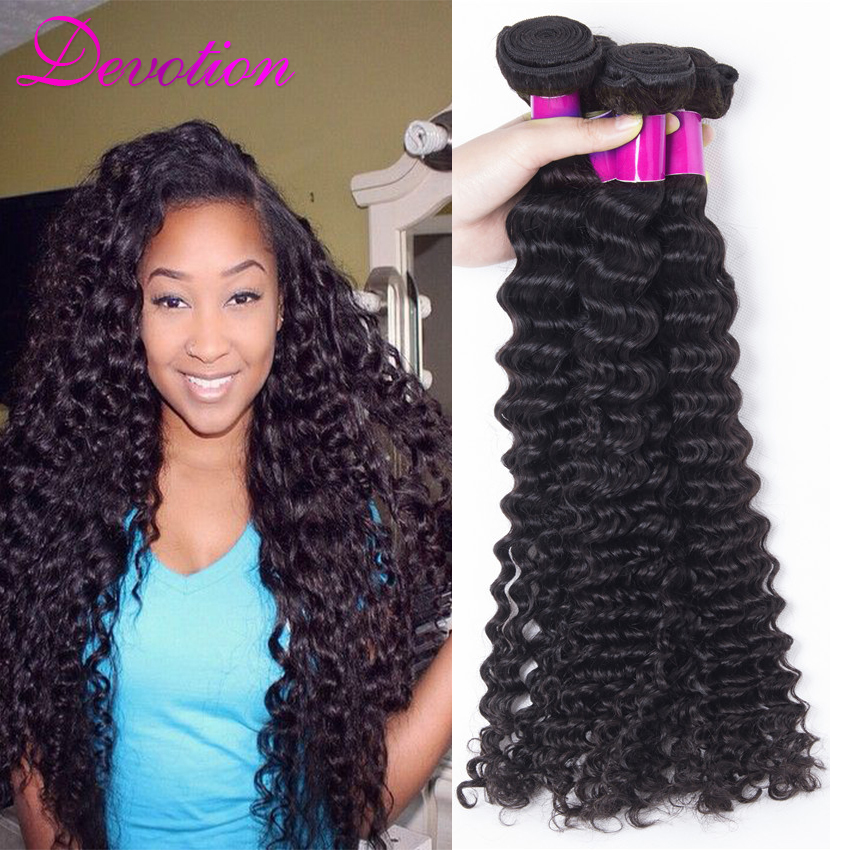 Natural Black Brazilian Deep Curly Virgin Hair Curly Brazilian Hair Extensions 8- 30 Inches 5 Bundles Of Virgin Brazilian Hair<br><br>Aliexpress