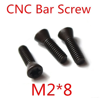 50pcs M2 x 8mm M2*8  Insert Torx Screw CNC Bar Replaces Carbide Inserts CNC Lathe Tool<br><br>Aliexpress