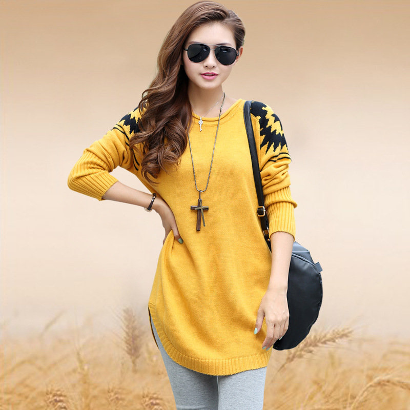 winter pullover women loose sweater plus size ladies sweater knitted sweater womens european