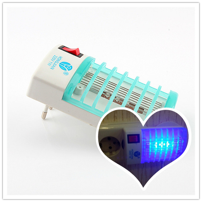 Hot Selling Mosquito Killer LED Mini Sensor Night Light 1W Range Pest Bug Reject Mole Repeller Insect Repellent Home Safe(China (Mainland))