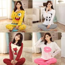 Women Pajamas Sets Autumn Pyjamas Sleepwear Pajamas mujer Homewear Nightgown Lady pyjamas suits pigiami pijamas mujer feminino(China (Mainland))